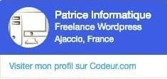 Inscrit sur Codeur